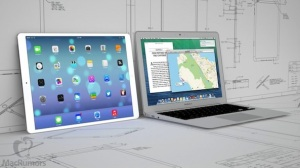 One of the iPad pro concepts sitting next to a MacBook Air, credit: MacRumors.
