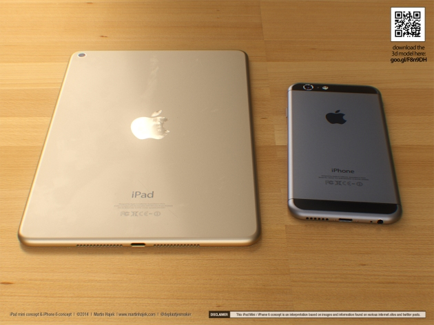 This iPad mini 3 concept is inspired by the new iPhone 6.