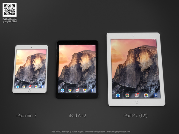 A concept by Martin Hajek for the iPad Pro vs the iPad Air