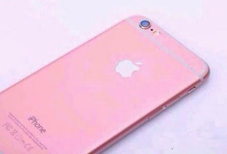 How the iPhone 6s would look with a pink aluminum shell